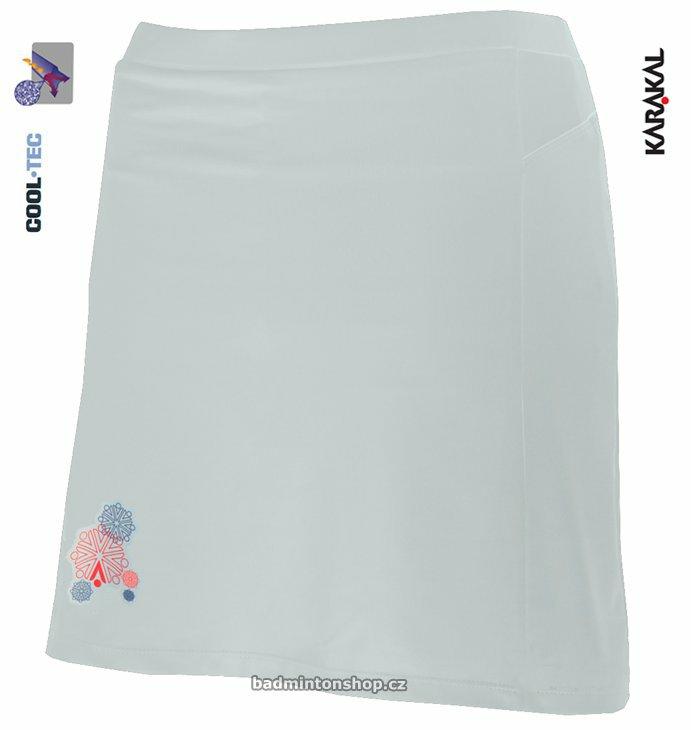 dámská badmintonová sukně KARAKAL AMARA WHITE