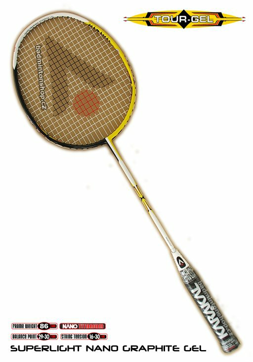 badmintonová raketa KARAKAL TOUR GEL BLACK/YELLOW